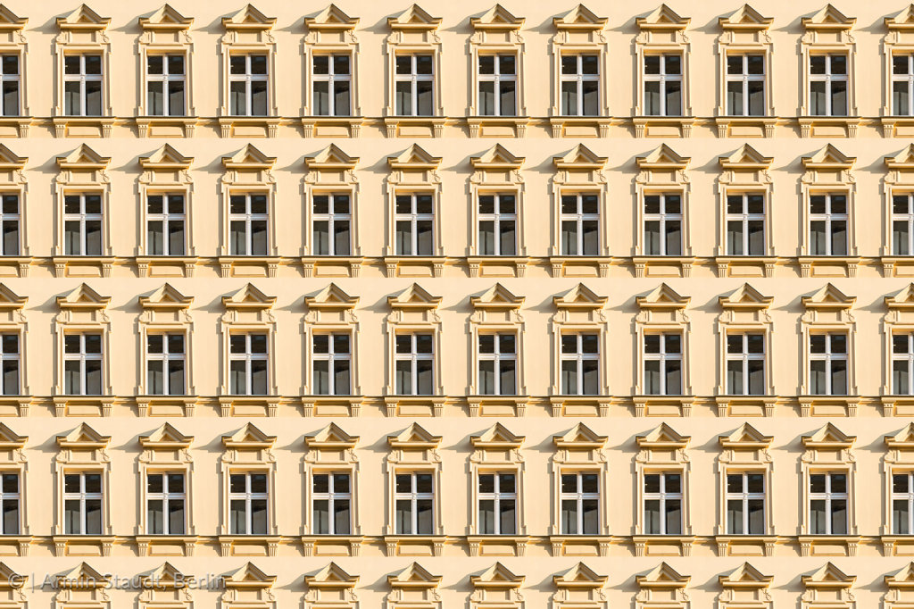 architecture pattern, window of an old house in Berlin Kreuzberg