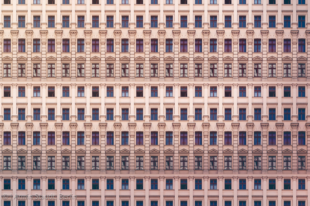 architectural pattern, windows with stucco of an old berlin house