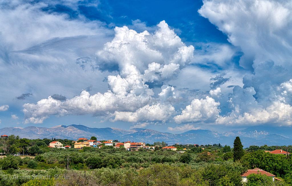 dramatic cloudscape on Kefalonia island, Greece